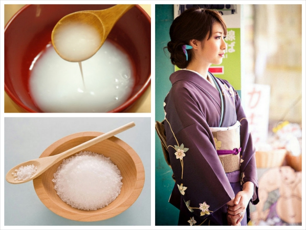 Tưởng như bỏ đi, nước vo gạo cũng có thể kết hợp với muối để làm trắng da