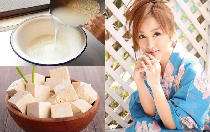 Sử dụng đậu phụ bằng cách đắp mặt nạ hoặc ăn trực tiếp để làm da sáng mịn