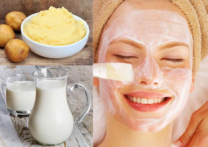 Khoai tây và sữa chua là cách chăm sóc da mặt bằng khoai tây cho da khô hiệu quả