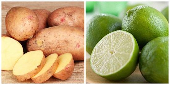 Sử dụng khoai tây và chanh là cách chăm sóc da mặt cho da mụn