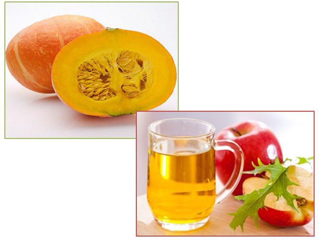 Kiên trì sử dụng bí đỏ và giấm táo để tẩy tế bào da chết và tăng cường khả năng dưỡng trắng