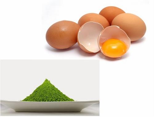 Công thức trị nám bằng trà xanh và lòng trắng trứng gà sẽ tăng khả năng làm trắng da, se khít lỗ chân lông để da mịn màng không tì vết.