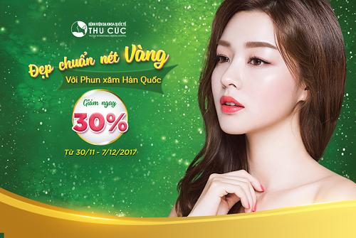 """Phun xăm Hàn Quốc sẽ giúp phái đẹp sở hữu đường nét khuôn mặt """"chuẩn vàng"""" mà không cần make-up"""