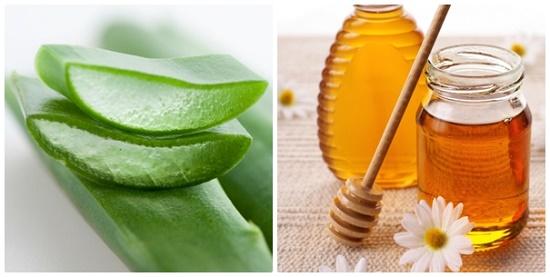 Mặt nạ nha đam kết hợp với mật ong còn cung cấp độ ẩm, giúp nuôi dưỡng làn da tươi sáng.