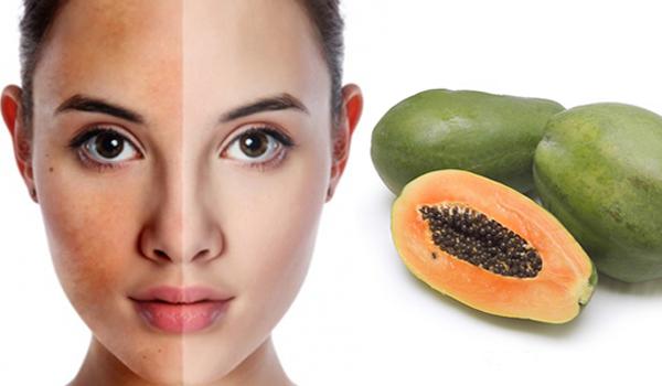 Kiên trì sử dụng đu đủ để cung cấp các dưỡng chất trên da
