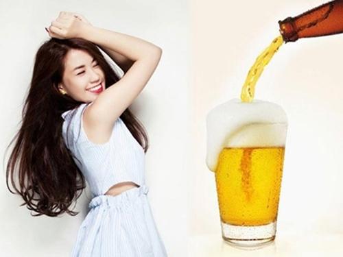 Bia vừa có khả năng tẩy bỏ tế bào da chết và dưỡng trắng da tại nhà