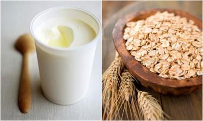 Kết hợp giữa sữa chua và bột yến mạch để thoa đều lên vùng da cần làm trắng