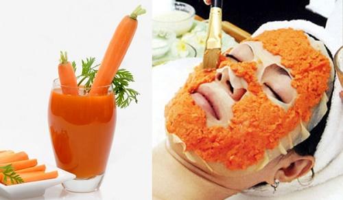 Cà rốt chứa một lượng lớn vitamin C và các khoáng chất giúp ngăn ngừa nếp nhăn và làm mờ các vết thâm nám.