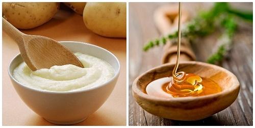 Mặt nạ khoai tây và mật ong giúp làm mờ đốm đen, cải thiện sắc tố da, giúp loại bỏ lông chân hiệu quả.