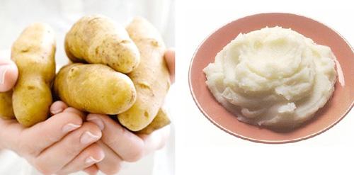 Khoai tây luộc chín rồi nghiền nát để cho ra nhiều vitamin C sẽ mang lại hiệu quả làm trắng da cực kỳ hiệu quả