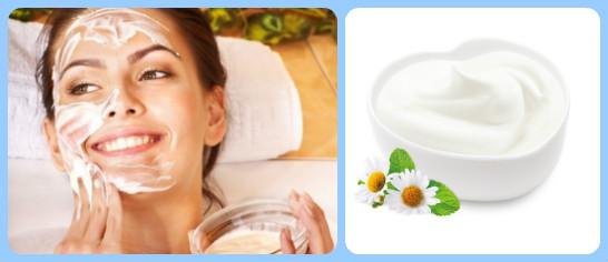Sử dụng sữa chua để thoa đều lên da mặt hoặc vùng da toàn thân để làm trắng da