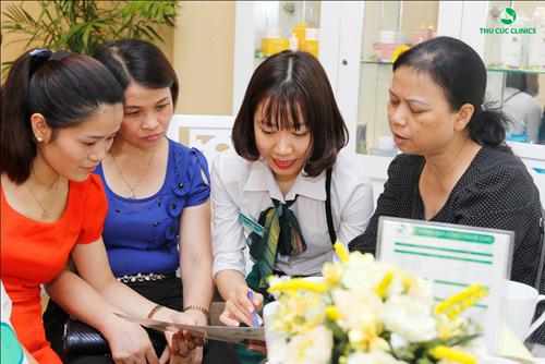 Rất đông khách hàng đăng ký để được tư vấn triệt lông tại Thu Cúc Clinics