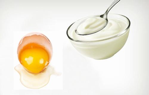 kết hợp sữa chua với trứng gà sẽ đem lại hiệu quả trị mụn cao gấp đôi, đồng thời dưỡng da hoàn hảo.