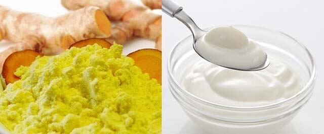 Tinh bột nghệ kết hợp với sữa chua là bí quyết trị rạn da hiệu quả