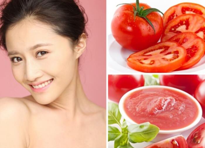 Cà chua cắt thành từng lát mỏng và đắp cà chua lên vùng da bị mụn trứng cá hàng ngày sẽ cho hiệu quả trị mụn