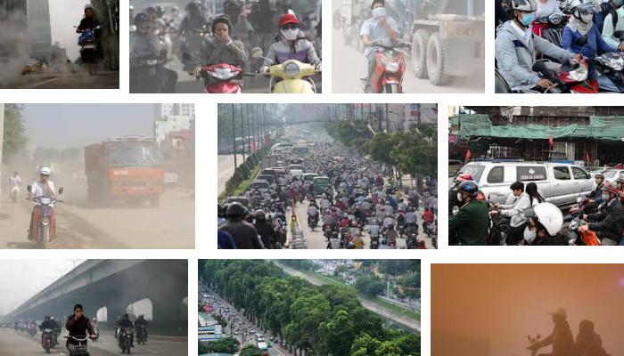 Môi trường ô nhiễm là tác nhân gây mụn và làm chúng phát triển mạnh hơn