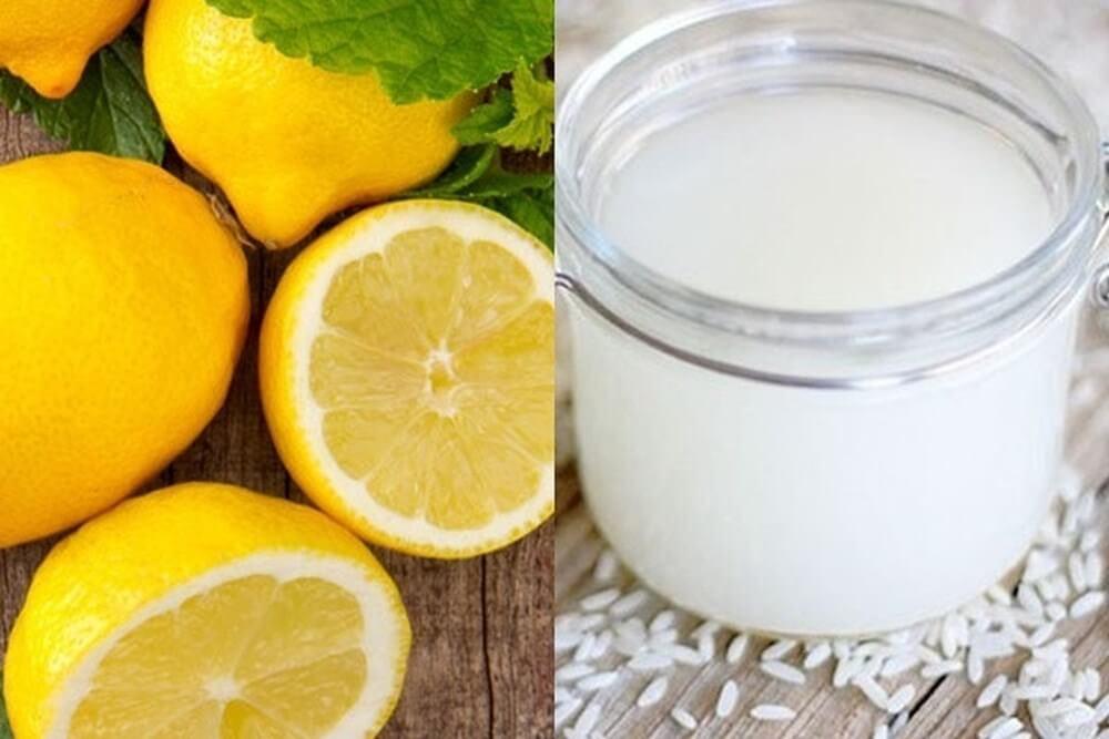 Sử dụng nước vo gạo, chanh để làm sạch da khi bị mụn bọc