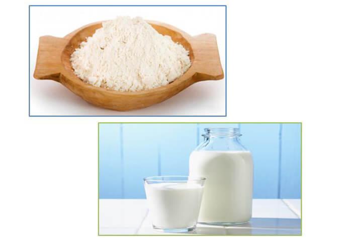 Sữa tươi kết hợp cùng baking soda vừa giúp các chàng trị mụn đầu đen vừa làm sạch da