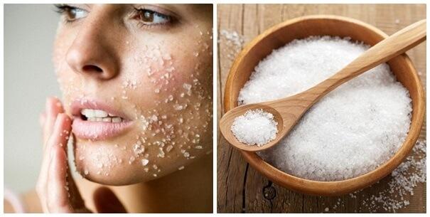 Detox da phòng mụn bằng mặt nạ muối biển và dầu oliu giúp làm sạch sâu lỗ chân lông, bổ sung độ ẩm