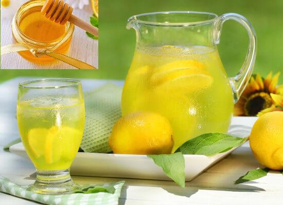 Detox da phòng mụn từ chanh, mật ong và soda