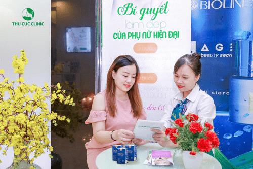 Sản phẩm Selina Anti Aging đang đượcbày bán trên toàn hệ thống cơ sở Thu Cúc Clinics với sự quan tâm, ưa chuộng sử dụng của đông đảo khách hàng