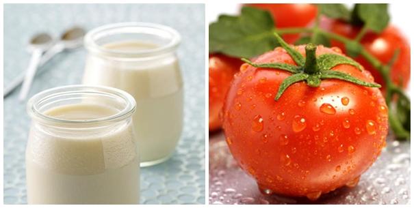 Kết hợp với cà chua sẽ tạo thành hỗn hợp loại bỏ lông an toàn và nhanh chóng.