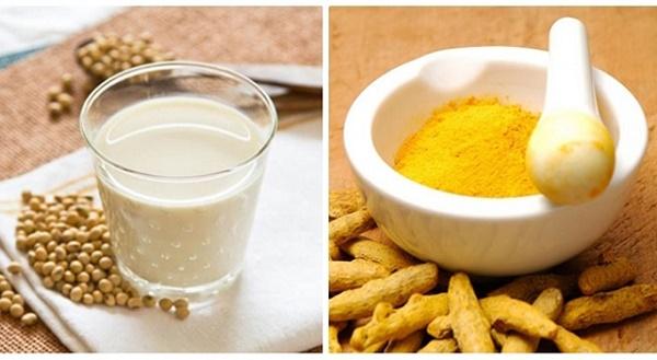 Làm mềm lông từ bột nghệ kết hợp sữa đậu nành là phương pháp tự nhiên được các chị em áp dụng phổ biến.