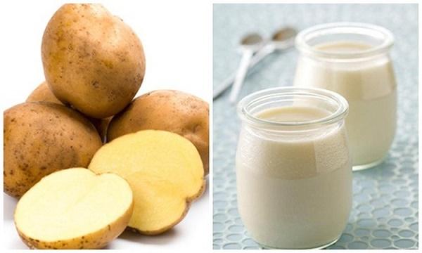 Làm mềm lông bằng sữa chua và khoai tây đem lại hiệu quả nhanh chóng và rất an toàn cho da.
