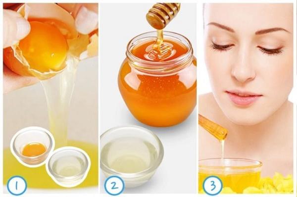 Trị nám bằng lòng đỏ trứng gà và mật ong được các chị em áp dụng rất phổ biến.