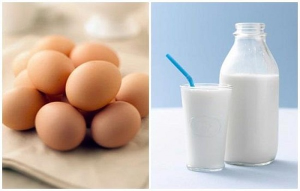 Kết hợp sữa tươi và lòng đỏ trứng gà sẽ đẩy nhanh tác dụng làm mờ dần các vết thâm nám và tàn nhang.