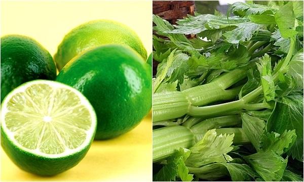 Khi kết hợp chanh với cần tây sẽ tạo nên mặt nạ trị tàn nhang hiệu quả, đồng thời dưỡng trắng da rất tốt.
