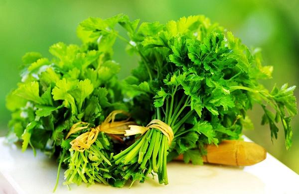 Trị mụn bằng mặt nạ rau mùi thích hợp sử dụng cho mọi loại da vì rất lành tính.