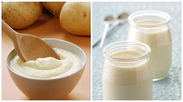 Mặt nạ khoai tây và sữa chua giúp loại bỏ nám da nhanh chóng, đồng thời nuôi dưỡng làn da sáng mịn tự nhiên.