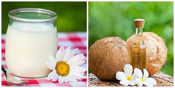 Trị tàn nhang từ dầu dừa và sữa chua được các chị em áp dụng rất phổ biến ngay tại nhà.