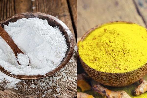 Trị nám với tinh bột nghệ và bột gạo được các chị em áp dụng phổ biến ngay tại nhà vì an toàn, dễ thực hiện.