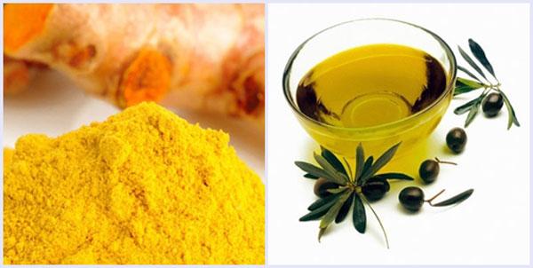 Kết hợp bột nghệ và dầu ô liu giúp tăng hiệu quả điều trị nám da nhanh chóng hơn.