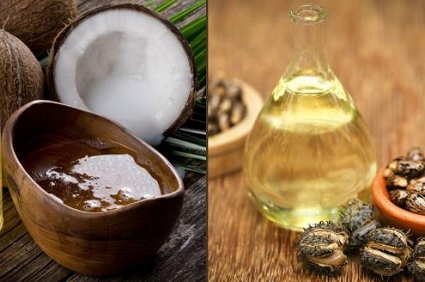 Sử dụng hỗn hợp dầu dừa và dầu thầu dầu giúp loại bỏ rạn da an toàn, nhanh chóng.