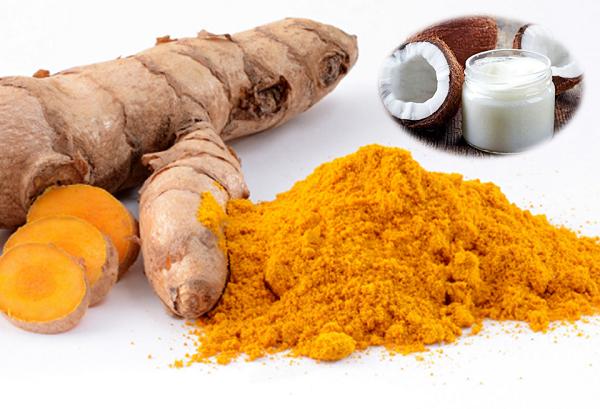 Hỗn hợp bột nghệ và dầu dừa giúp loại bỏ nám da nhanh chóng, đồng thời dưỡng da sáng mịn tự nhiên.