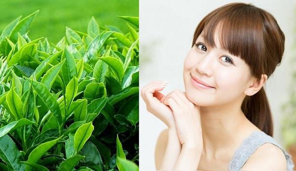 Tắm trắng da từ lá trà xanhđược các chị em áp dụng rất phổ biến ngay tại nhà.