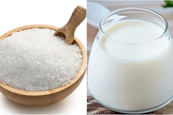 Sữa tươi không đường có chứa thành phần protein, enzim, axit latic,... có tác dụng làm trắng da, loại bỏ vết thâm sạm rất tốt.