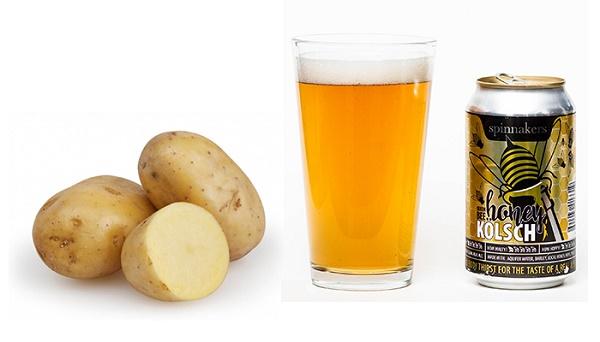 Kết hợp bia và khoai tây sẽ giúp làn da của bạn trắng sáng, ngăn chặn nguy cơ hình thành mụn trứng cá.