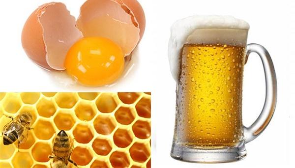 Mặt nạ bia và trứng gà giúp tăng công dụng làm trắng và chống lão hóa hiệu quả.