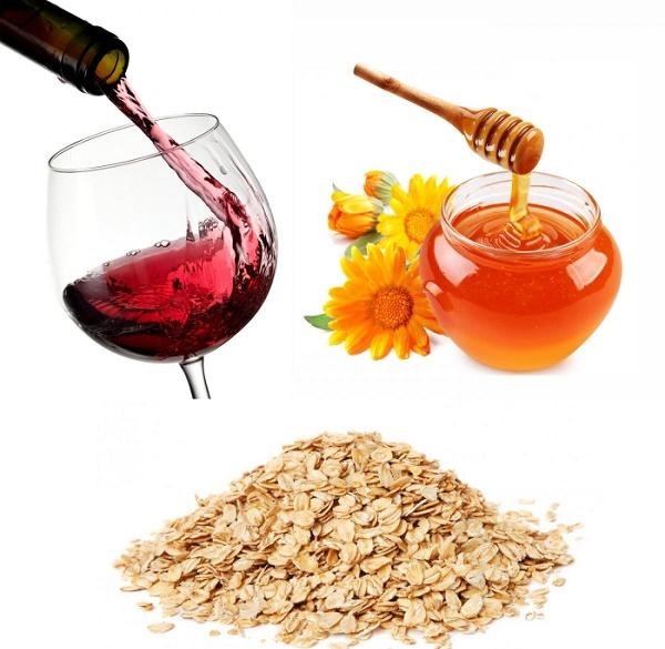 Kết hợp rượu vang đỏ với bột yến mạch sẽ tăng hiệu quả dưỡng da nhanh hơn mà không gây kích ứng.