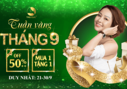 Tạm biệt tháng 9 với Tuần vàng làm đẹp tại Thu Cúc Clinics (21/09 – 30/09/2019)