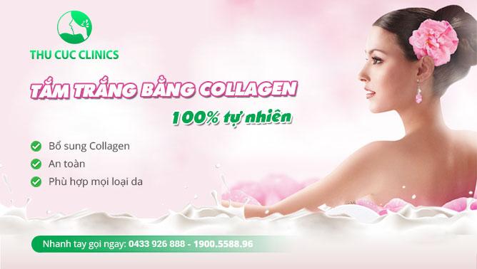 Collagen giúp tăng sự đàn hồi, làm da trắng hồng mịn màng từ bên trong