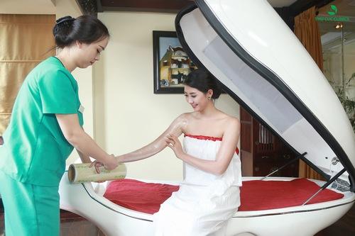 Tắm trắng tại Thu Cúc Clinics.