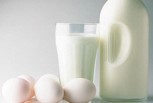 Hỗn hợp lòng trắng trứng gà, sữa tươi có khả năng trị rạn da